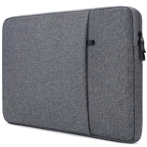 NIDOO 11.6' Laptop Sleeve Case Notebook Computer Bag Compatible with 13' MacBook Pro Air / 12.9' New iPad Pro/Microsoft Surface Pro 6 4 3/13.4' Dell XPS 13, Protective Cover with Pocket, Dark Gray