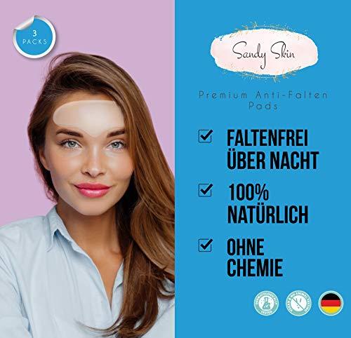 2 in 1 GERMAN WINNER Sandy Skin®   2x Stirn Pad & GRATIS 1x Augen Pads   Stirnfalten Stirnpad   Anti-Falten Augenpads gegen Falten   Zornesfalten