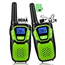 Walkie Talkies for Kids, Funny Talking Toy for 3-12 Years Old Boys and Girls, Easy to Use Rechargeable Walky Talky Christmas Birthday Gifts for Hiking Camping Trip Adventure (Green 2 Pack)