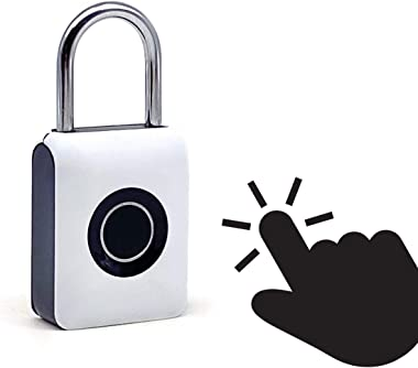 Guard Dog Security Fingerprint Padlock - Smart Lock Ideal for Bikes, Lockers and Luggage - Travel Lock - White