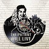 FDGFDG El Paciente vivirá Inspirador Enfermera Arte de Pared Reloj de Pared Cartel Motivacional Vinilo Registro Reloj Enfermera Regalo