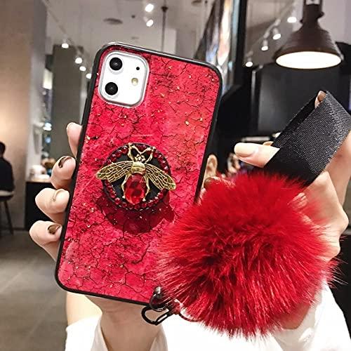 DEIOKL Case Love Heart Stars Glitter Stars Estuche para teléfono para iPhone8 X 5 5S SE 6 6S 7 Dynamic Liquid Quicksand Soft TPU Contraportada, Púrpura, para iPhone 8