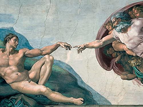 YYW rompecabezas Capilla Sixtina Michelangelo 1000 rompecabezas para adultos y niños