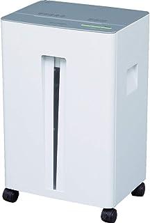 アイリスオーヤマ シュレッダー 業務用 静音 細断枚数23枚 クロスカット 連続使用15分 ホチキス対応 ダストボックス大容量30L A4/700枚収容 OF23 ホワイト/シルバー