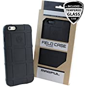 iPhone SE Case, iPhone 5S/5 Case, Magpul [Field] Polymer Drop Protection Case Cover MAG452 Retail Packaging for Apple iPhone SE/5S/5 + TJS Tempered Glass Screen Protector