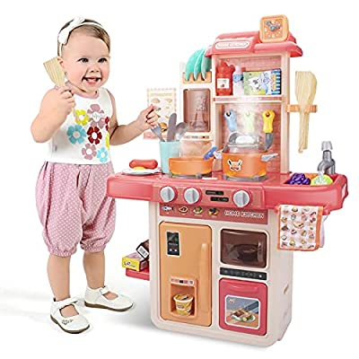 UNIH Kids Kitchen Playset with Play Food Sets f...