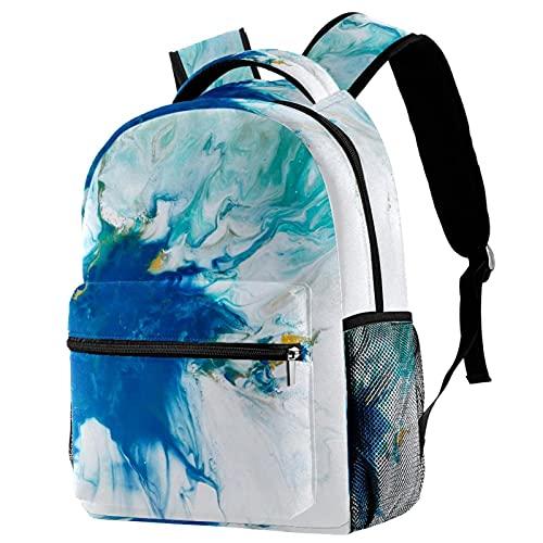 Mochila para niños y niñas, mochila escolar infantil para jardín de infancia, preescolar, bebé, guardería, bolsa de viaje abstracta colorida gotas de agua