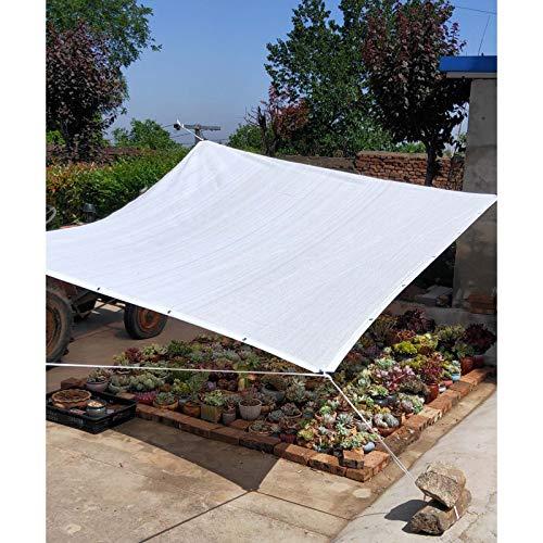 YLL Blanco Shade Neto Sun Garden Cortavientos De Tela 90% De Protección Ultravioleta, Invernadero Sombreado Lona De Protección Solar De La Vela por Plantas De Jardín,3x8m(10 * 26ft)