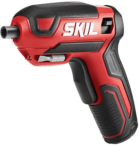 SKIL Rechargeable 4V Cordless Pistol Screwdriver with 42pcs Bit Set and Carrying Case - SD5618-03