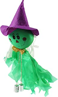 Tinksky Halloween Wind Chime Ghost Scarecrow Wind Bells Hanging for Halloween Party KTV Decoration halloween horror nights (Green)