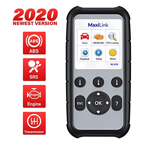 Autel MaxiLink ML629 Automotive OBD2 Scanner, 2020 Newest Upgraded of AL619, ML619, Car Code Reader Check Engine ABS SRS Transmission Diagnostic Scan Tool with Auto VIN, Ready Test, DTC Lookup