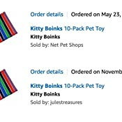 Kitty Boinks 10-Pack Pet Toy