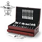 Wallace Grande Baroque 46-Piece Sterling Silver Set with Double Bonus, Service for 8