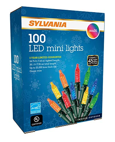 SYLVANIA LED Mini Christmas Lights, Multi