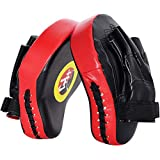 TLBTEK 2PCS Curved Punching Mitts Boxing Pads Hand Target Boxing Pads Gloves Training Focus Pads Kickboxing Muay Thai MMA Martial Art UFC Punch Mitts for Kids,Men & Women