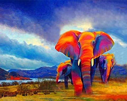 XTTYXF Elefanten Artwork Puzzles Erwachsene 1000 Stück Holzspielzeug Große Familienaktivität Dekorative...
