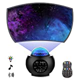 Star Projector Night Light Projector with Galaxy Ocean Wave Projector Bluetooth Music Speaker for Baby Bedroom,Game...