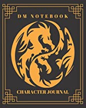 DM Notebook Character Journal: DnD Notebook With 50 Character Sheets and 100 Mixed Pages (Lined, Graph, Hex & Blank)For Role Playing Fantasy Games ... Track 5e Gameplay, Plans, Spells & More