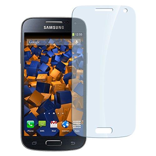 mumbi Hart Glas Folie kompatibel mit Samsung Galaxy S4 Mini Panzerfolie, Schutzfolie Schutzglas (1x)
