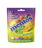 Mentos Mix Frutas, Caramelo Masticable con Zumo de Frutas - 7 bolsas de 160 gr. (Total 1.120 gr.)