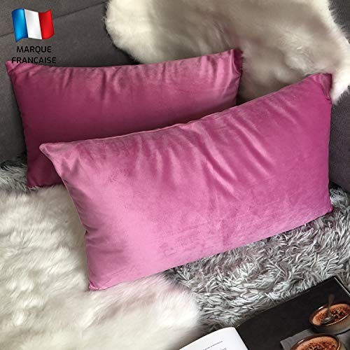 Cojines Cama Decorativos Con Brillo Rectangular cojines cama  Marca Douceur De Plumes