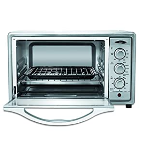 Oster 6-Slice Convection Toaster Oven TSSTTVRB04, Brushed Stainless Steel