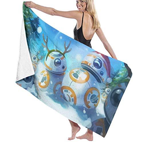 Olie Cam Asciugamano da spiaggia natalizio con Cappuccio Asciugamani da bagno da spiaggia Asciugamani da bagno ad asciugatura rapida per viaggi Teli da Piscina da campeggio su sedie da spiaggia