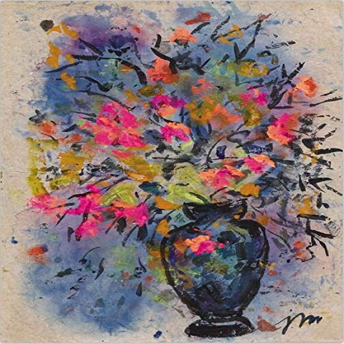Modern Flower Decoration Vase Orchid Canvas Oil Painting Wall Poster Living Room Home Decoration 50x70cm
