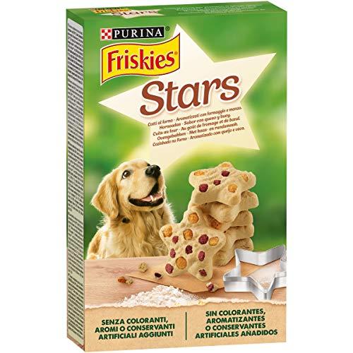 Purina Friskies Stars Galletas de perro con queso y ternera, 320 gr