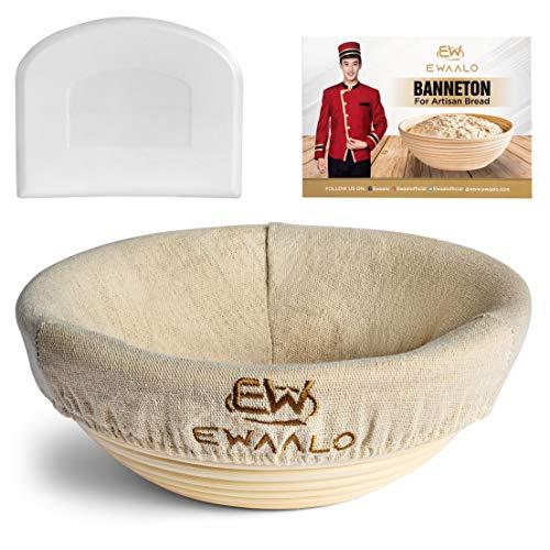 9 Inch Bread Banneton Proofing Basket Set - Proofing Baskets for Sourdough Bread Baking - Sourdough Starter Kit - Sourdough Proofing Basket for Bread Making - Bread Proofing Basket