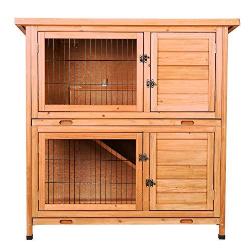 CO-Z 2 Story Wooden Rabbit Hutch