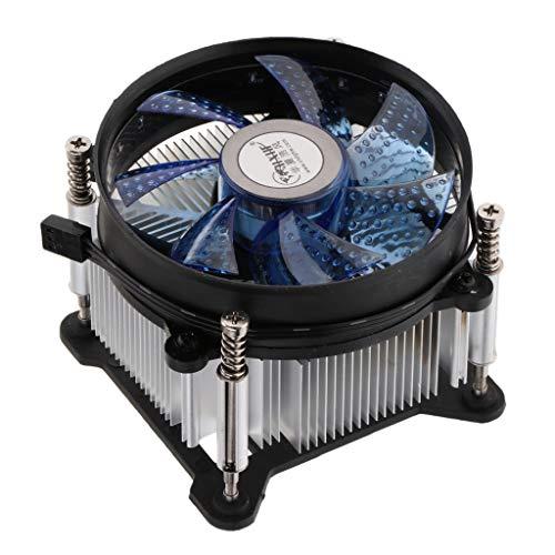 IPOTCH Enfriador de CPU Ventilador de Refrigeración Disipador de Calor de Cobre de 9 Cm para