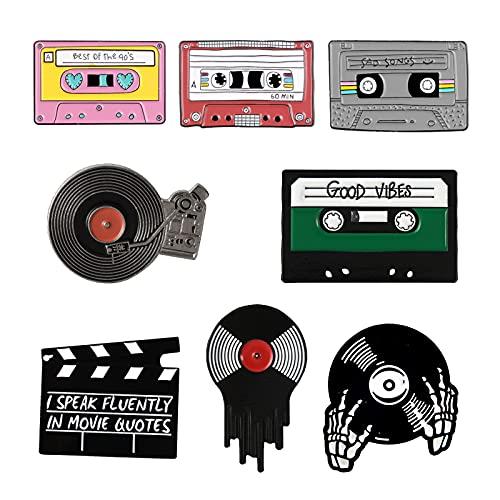 MoK 8 Piezas Alfileres de Dibujos Animados de Metal, Broche Pins de Dibujos Animados Metal, Buen Broche de Esmalte, para Ropa, Bolsas, Accesorios Chaquetas, DIY Artesanías, Decoración