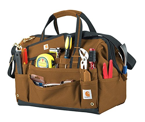 """Carhartt Legacy 16"""" Tool Bag with Molded Base Carhartt/Brown One Size"""