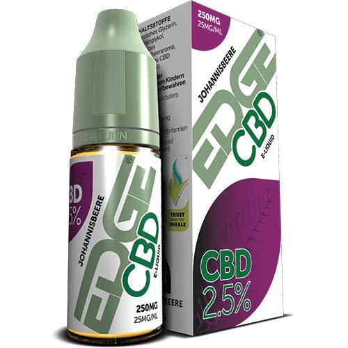 Edge CBD Liquid – Premium CBD E-Liquid für alle Vape Pens | 250mg CBD, 10ml, ohne Nikotin (Johannisbeere)