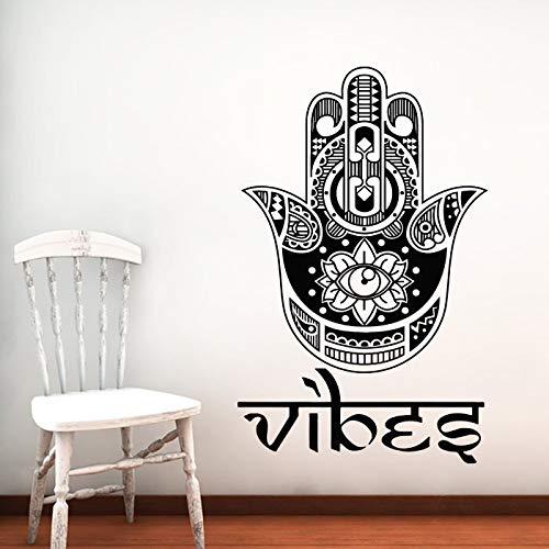 yaonuli Stammes-Muster Mandala Blume Silhouette Wandtattoo Zuhause Wohnzimmer religiöse Kunst Dekoration Vinyl Wandaufkleber Wandbild 91x116cm