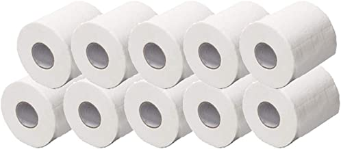 3 Ply Toilet Paper - 170 Sheets/Roll, White Roll Paper Towels Household Soft Skin-Friendly Napkins Cleansing Bath Tissues, for Home Kitchen Bathroom Restaurant Office School 10 x 10cm (12 Pcs)