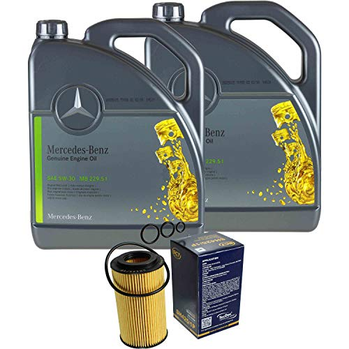 Filter Set Inspektionspaket 10 Liter Original Motoröl 5W-30 MB 229.51 SCT Germany Ölfilter