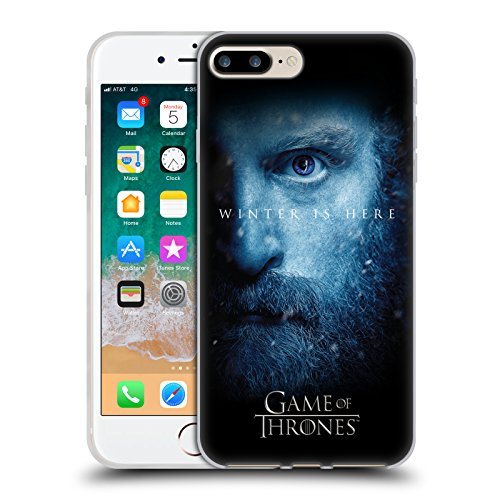 Head Case Designs Licenza Ufficiale HBO Game of Thrones Tormund Winter Is Here Cover in Morbido Gel Compatibile con Apple iPhone 7 Plus/iPhone 8 Plus