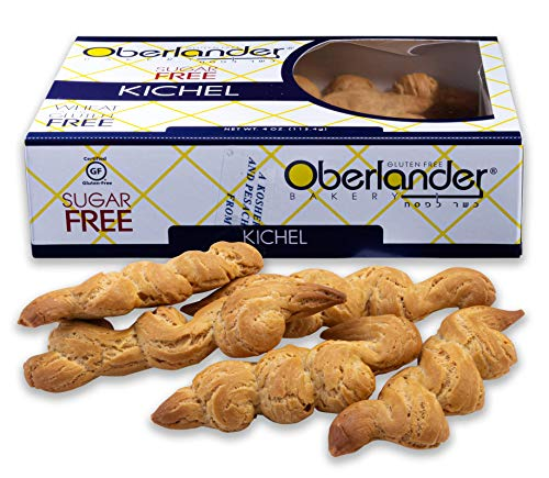 Oberlander Gluten & Sugar Free Kichel Cookies | Mouthwatering Bow Tie Cracker Contains No Gluten, Soy, Dairy, Lactose or Trans Fat | Certified Kosher For Passover & Other Special Occasions | 4 Ounces