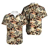 RT NFL T-Shirt Polo Shirt Undershirt - New Orleans Saints Rugby Fan Jersey Summer 3D Hawaiian Shirt Short Tee Shirts Casual Sweatshirt Top - Teen Gift Brown-L