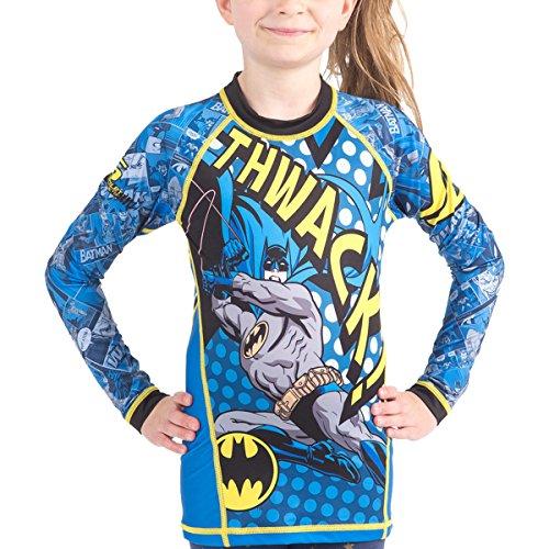 Fusion Batman Thwack Kids Compression Shirt Rash Guard- Long Sleeve (XL)