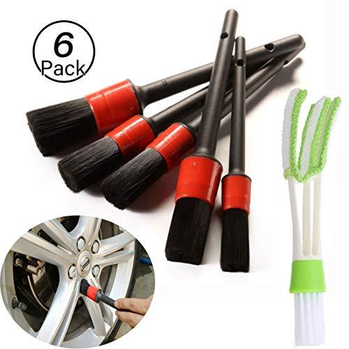 JiaHome-cepillos de Limpieza para Detalles de automóviles(6