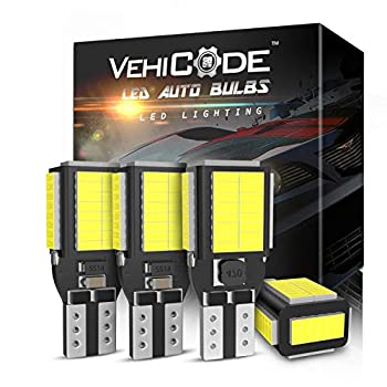 VehiCode 912 921 T15 LED Bulb 6000K White CANBus Error Free 12V-24V for Car Reverse Backup Map Light Truck Cargo Lamp RV Camper 906 922 579 Interior Dome Marine Landscape Light Replacement  4 Pack