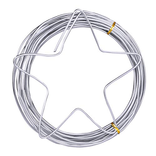 Silver Aluminum Wire Metal Craft Wire 3mm Diameter (9 Gauge), 10 M (32.8 feet), Bendable and Flexible Floral Armature Wire for DIY Arts and Craft Projects by STARVAST