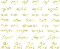 ネイルシール アルファベット 文字 パート2 ブラック/ホワイト/ゴールド/シルバー 選べる44種 (ゴールドGP, 28)