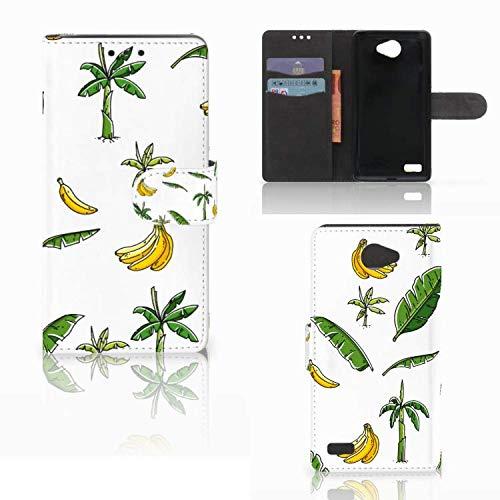 B2Ctelecom Lederhülle für LG Bello 2 Handytasche Bananenbaum