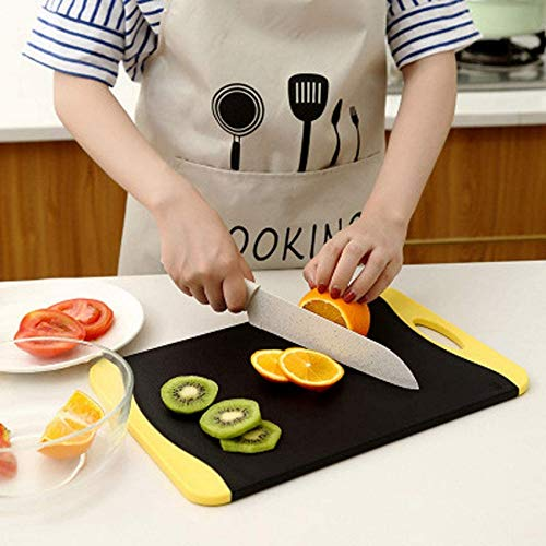 ZCY Tabla de Cortar de Cocina, Tabla de Cortar, Tabla de Cortar de carbón de bambú de Cocina para el hogar, Tabla de Cortar de Frutas y Verduras de Doble Cara Multifuncional (3 tamaños)
