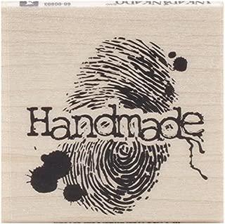 Inkadinkado Handmade Fingerprint Wood Stamp, 1.75'' L x 1.75'' W