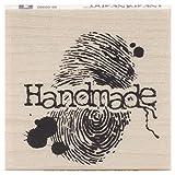Unbekannt Inkadinkado Handgefertigter Stempel aus Holz mit Fingerabdrücken, 4,5 x 4,4 cm (L x B)